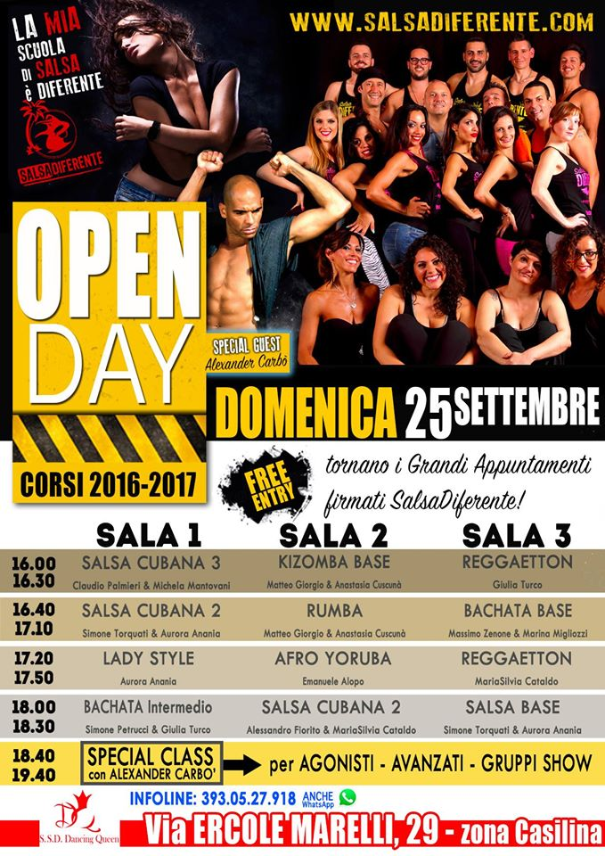 Open Day Salsadiferente - 25 Settembre 2016